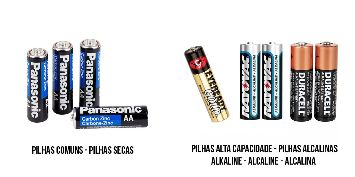 Pilhas secas e pilhas alcalinas